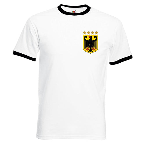 Custom-made Mens customisable retro Germany football T-shirt