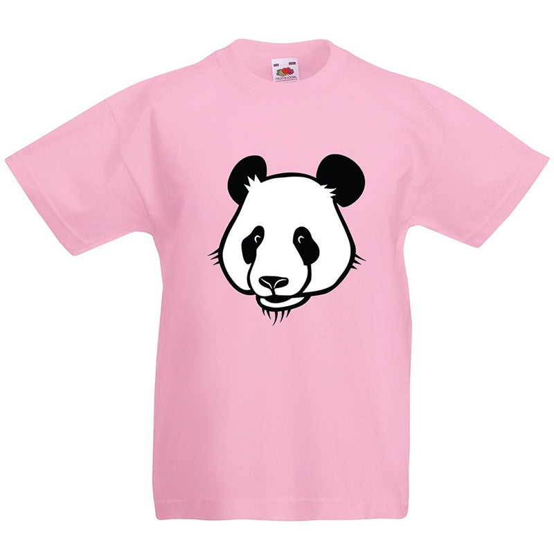 Kids Cute Panda Bear Retro T-Shirt - Pink