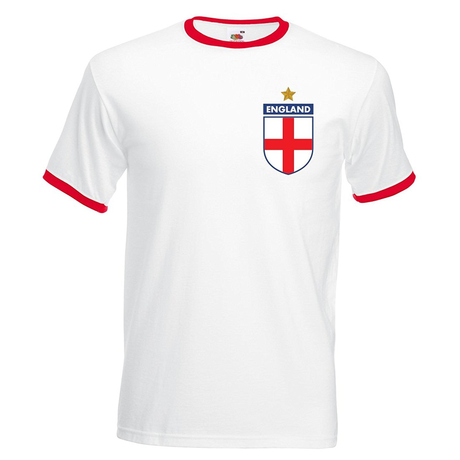 Adults CCCP Soviet Union Retro Football T-Shirt with Free Personalisation - Red / White Et0P5Njka7