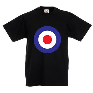Kids retro Mod Britpop circles T-shirt