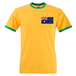 Custom-made Mens customisable retro Australia football T-shirt