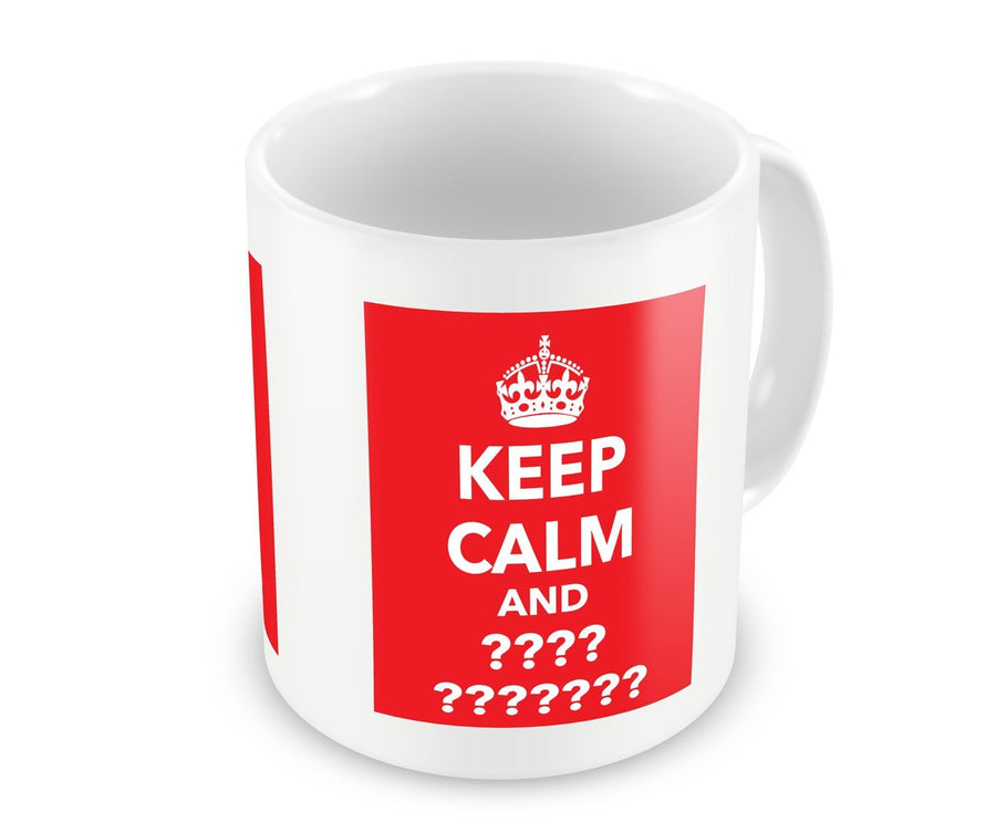 Custom-Made Keep Calm Dishwasher Safe Printed Ceramic Mug - Red