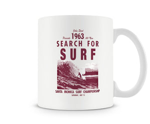 Search For The Surf Retro Poster Mug