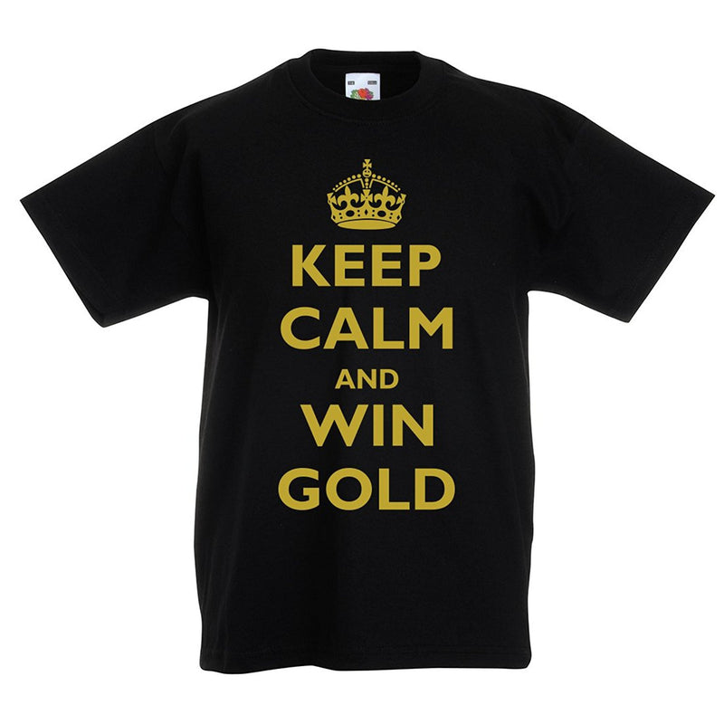 Kids keep calm and win gold T-shirt