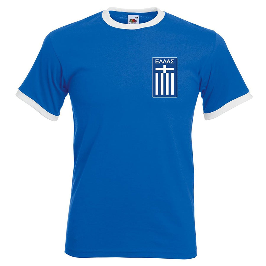 Mens Gekas Greece retro football T-shirt