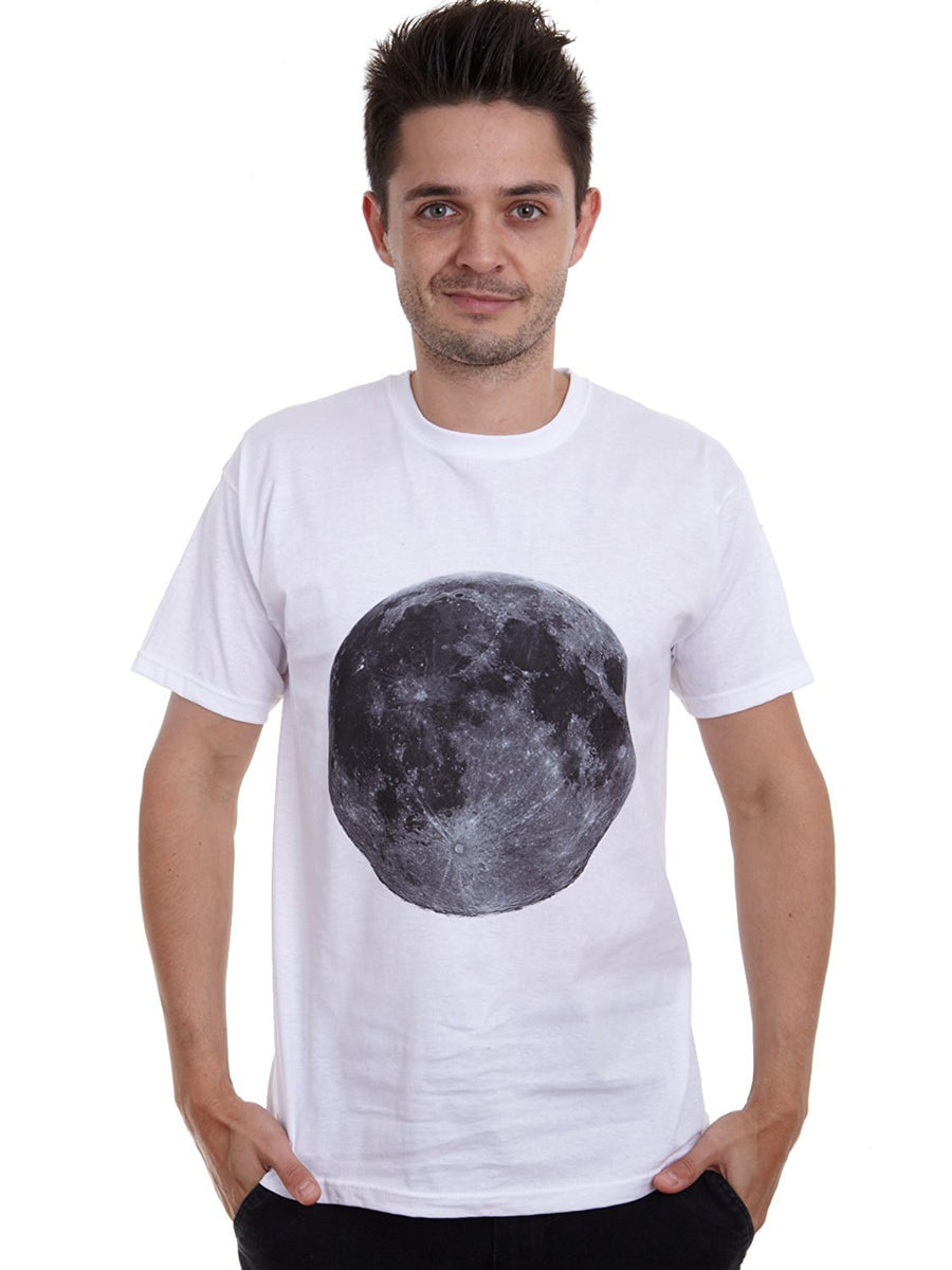 Mens retro big full Moon lunar T-shirt