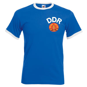 Mens retro ddr East Germany football T-shirt