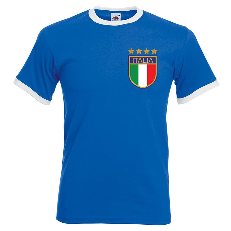 Custom-made Mens customisable Italy retro football T-shirt
