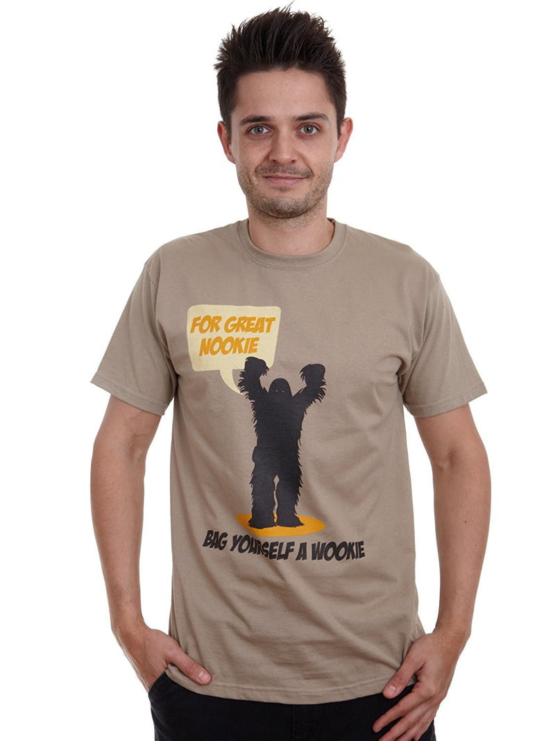 Mens for great nookie hug a Wookie T-shirt
