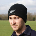 New Zealand Vintage Retro Embroidered Rugby Football Sport Beanie Hat - Adult & Kids in Black Life Style