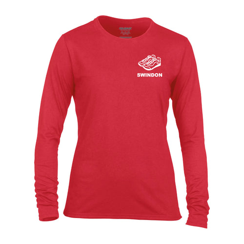 Slinn Allstars Red Long sleeve Ladies t-shirt- SLA0008