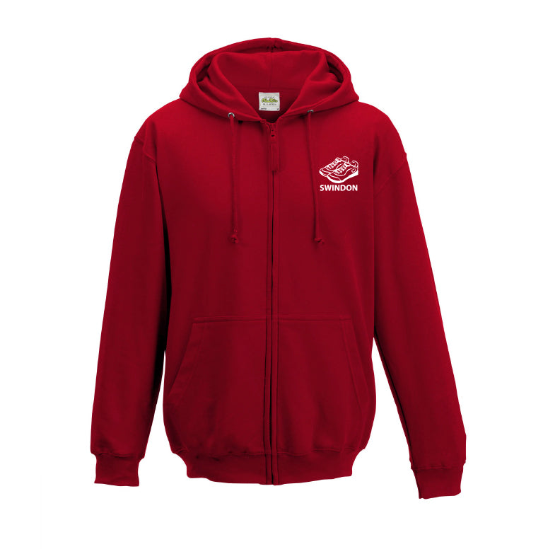 Slinn Allstars  Red Unisex Zip Hooded Sweatshirt - SLA0005