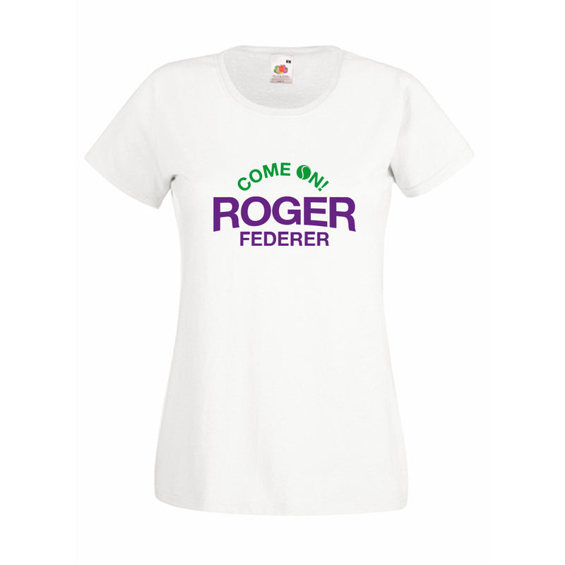 Women's - Come On Roger Federer Wimbledon T-Shirt