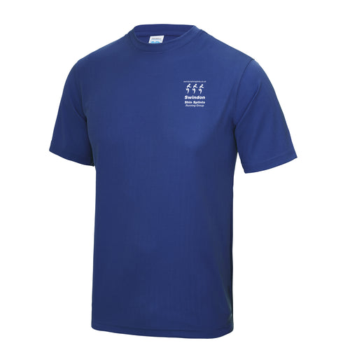 JC001 Royal Blue Performance T-shirt - Swindon Shin Splints -SSH0002