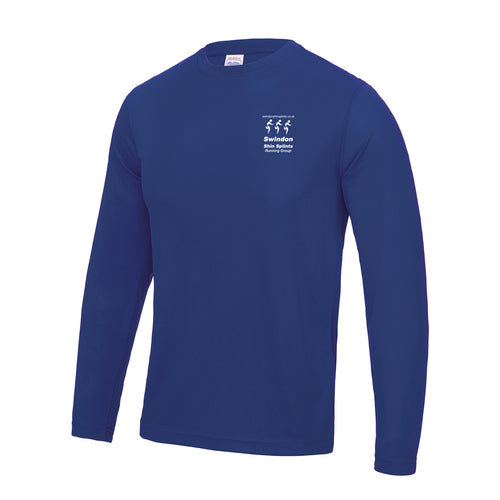 JC002 Royal Blue Performance Long Sleeve T-shirt