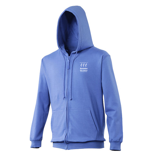 JH050 Royal Blue Full Zip Hooded Sweatshirt