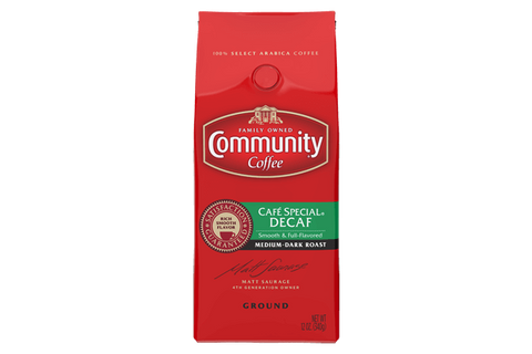 SPECIALLY BLENDED DECAFFEINATED COFFEE