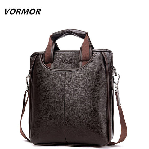 VORMOR Leather Men's  Messenge Bag, Small Briefcase,   Crossbody Shoulder Bag