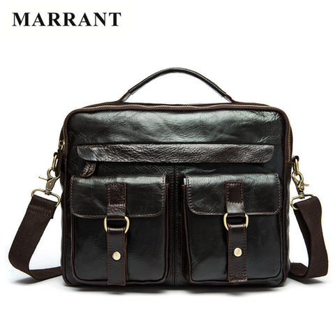 MARRANT Genuine Leather Men's Bag.  Briefcase, Shoulder Bag, CrossBody Bag