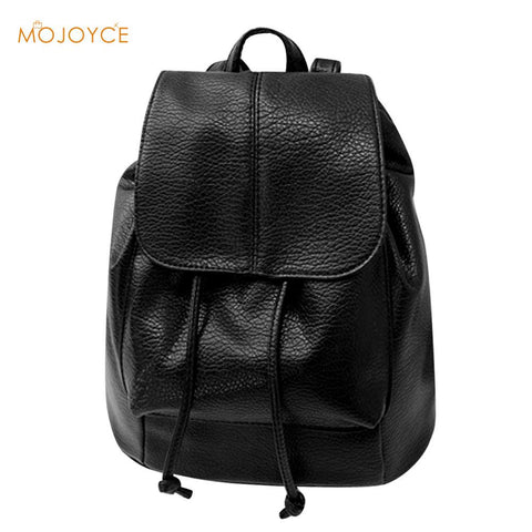 Unisex  Leather Drawstring  Shoulder Backpack Vintage  Soft  Leather