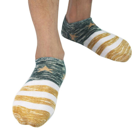 1 Pair  Men's Cotton  Crew Ankle Low Cut Socks