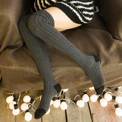 High Quality  Knitted  Long Boot Thigh-High Cotton Warm Leggings