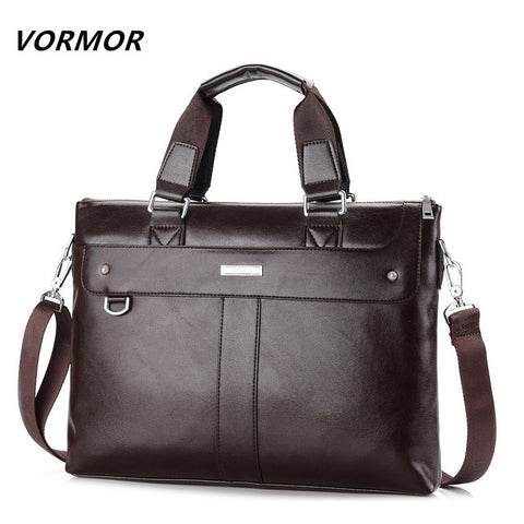 VORMOR 2017 Men's Leather Briefcase, Business Shoulder Bag, Messenger Bag Computer Laptop Bag