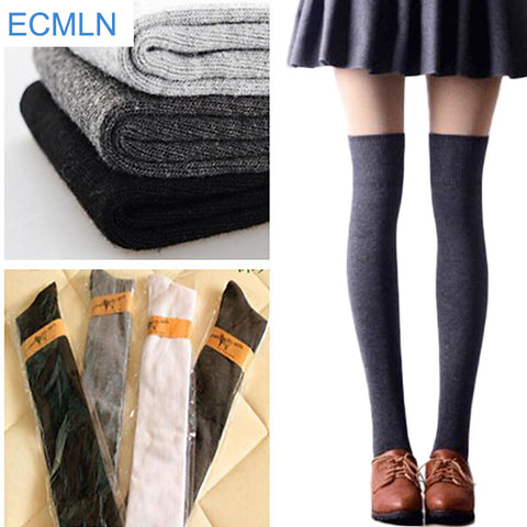 1 Pair 5 Solid Colors  Sexy Warm Thigh High Over the Knee Socks  For Girls  Women