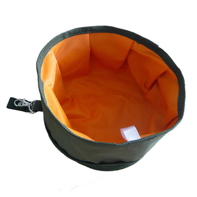 Feeders Bowl Waterproof Outdoor Portable Folding Pet Food Bowl Dog