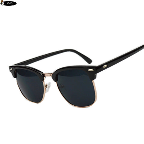 High Quality Half Metal Sunglasses Men Women  Mirror  UV400