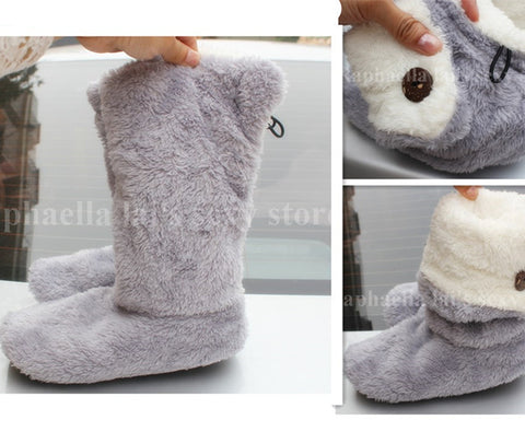 Soft Plush Slippers  Floor Socks , indoor use