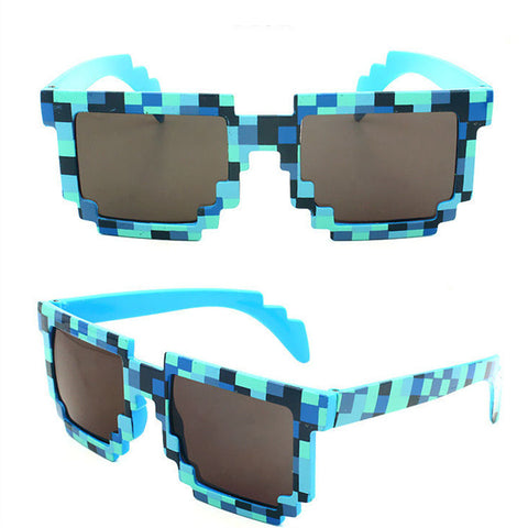 Minecraft Glasses 8 bit Pixel Women Men Sunglasses Mosaic Sun Glasses. boys girls