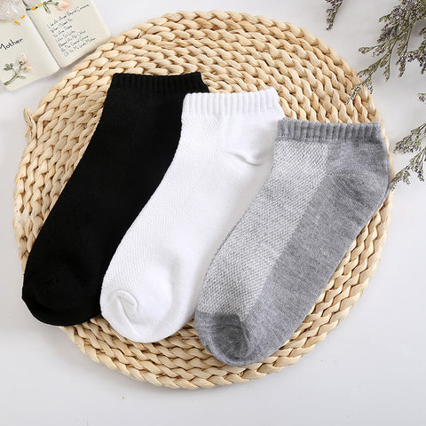 10 Pieces/ Lot    Breathable Fitted Mesh Socks For Men