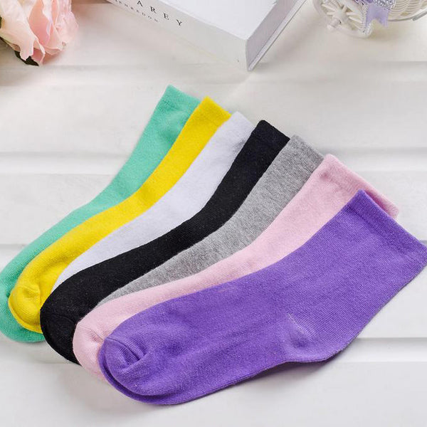 Fashion  Women Solid Candy  Colors Short Sock