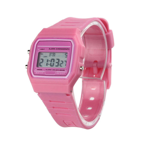 Silicone Rubber Strip Vintage Crystal Casual Digital watch women men