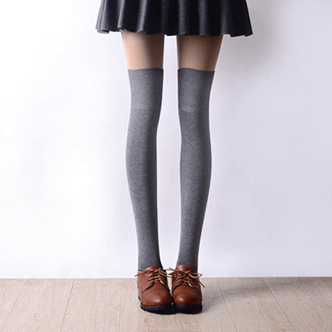 3 Colors Fashion Women's Socks Sexy Warm Thigh High Over knee For Girls Ladies Women