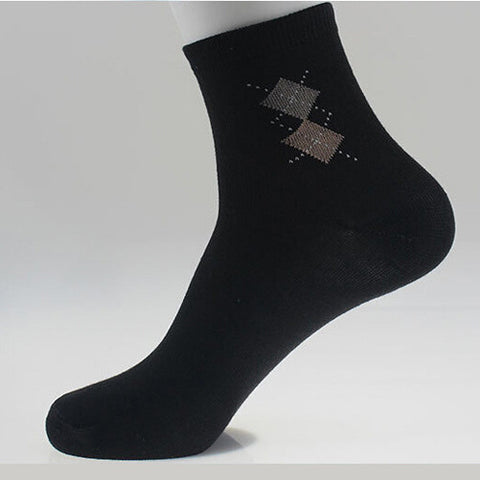 Fashion Men's Sock  Quality Fashion Double Rhombus 5 Colors Style