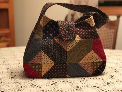 Newport Patchwork Quilted Jersey Made Handbag