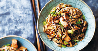 Teriyaki Tofu with Shiitake Mushrooms and Soba Noodles