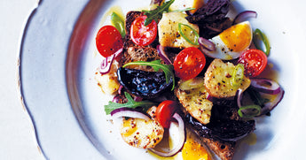 Up Your Focus: Beets, Cherry Tomatoes, and Soft-boiled Eggs on Rye