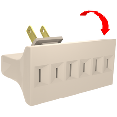 3 - OUTLET SWIVEL ADAPTER