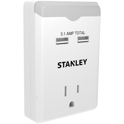 1 OUTLET USB NIGHT LIGHT - Stanley Electrical Accessories