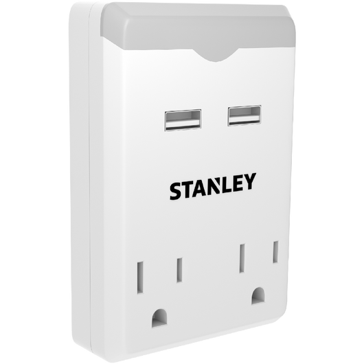2 OUTLET USB NIGHT LIGHT - Stanley Electrical Accessories
