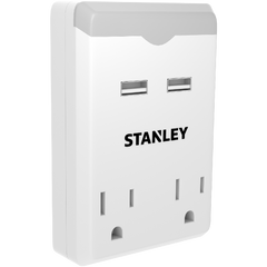 STANLEY 2 OUTLET USB NIGHT LIGHT