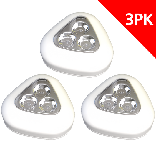 STANLEY 3-LED PUSH LIGHT (3PK) - Stanley Electrical Accessories