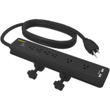 STANLEY DESK CLAMP SURGE PROTECTOR - Stanley Electrical Accessories