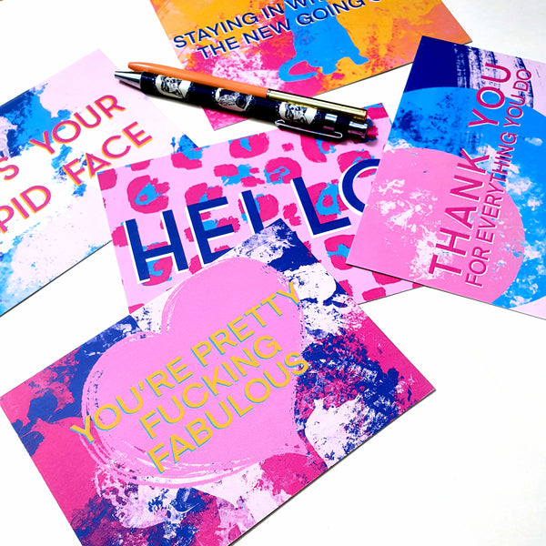 Personalised Positivity Quarantine Postcards