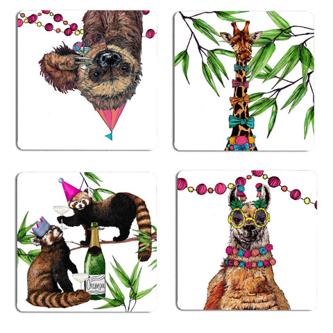 Party Animal Drinks Coaster Set