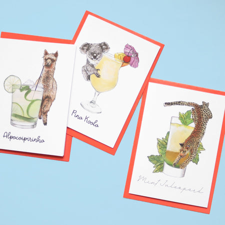 Alpacaipirinha Cocktail Greeting Card - Fawn and Thistle