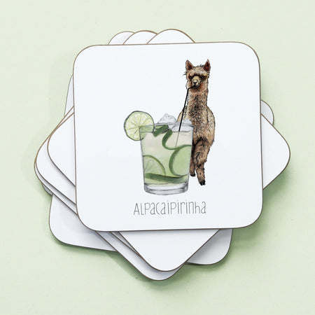 Alpacaipirinha Drinks Coaster - Fawn and Thistle